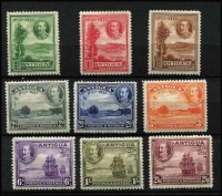 Lot 1550 [2 of 2]:1932 Tercentenary ½d to 5/- set SG #81-90, some hinge remnants, fine mint overall, Cat £225. (10)