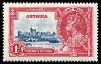 Lot 1373:1935 Silver Jubilee 1d deep blue & carmine, variety Diagonal line by turret SG #91f, fine mint, Cat £100.