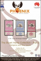 Lot 209:Australia - Kangaroos: 'The Hardy Collection - Part 2, Kangaroo & Map Issues'  Phoenix hardbound auction catalogue (2013), with p/r.