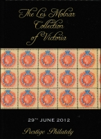 Lot 159:Australian Colonies - Victoria: Prestige Philately hardbound auction catalogue for 'The Les Molnar Collection of Victoria' (June 2012), with p/r.