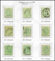 Lot 750 [3 of 5]:1902-63 Collection reasonably complete on Seven Seas hingeless pages including 1902 Blank at Base complete to 5/- including 1d & 2d P11½,12 compound P11, 1902-04 Filled Base including P11 ½d (Cat $375) to 5/-, 1906 Crown/Single-Lined 'A' including 3d (Cat $375), 1907 Crown/Double-Lined 'A' to ½d to 4d (Cat $800), 1909 Change of Design ½d to £1 set (Cat $800+), later material including 1913-23 ½d P14 (Cat $500), 1931-36 6d P11 (Cat $475), generally fine, mostly with datestamp or tidy cancels, high catalogue value. A very good lot. (260+)