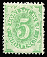 Lot 753:1902 Converted NSW Plates (Blank At Base) 5/- emerald, BW #D11, rich fresh colour, Cat $375.