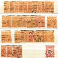 Lot 243 [1 of 3]:Pre-Decimal Array In Stockbook with KGV Heads to 5d including 2d orange x65, 2d red x70, KGV Robes to 5/- x2, etc; condition variable with toning in places. (few 100s)