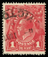 Lot 537:1d Brown-Red (G32) Smooth Paper BW #71W, fine used, Cat $150.