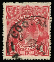 Lot 539:1d Deep Brown-Red (G32) Smooth Paper Die II BW #71W(1)i, fine used, Cat $350. Rare shade/variety combination. Starling Certificate (2017).