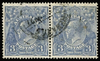 Lot 569:3d Blue Die Ia BW #106 Type B pair, fine used.