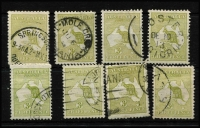Lot 74 [2 of 3]:3d Olive Die I x20 used including pair and one mint, various shades, used stamps with tidy datestamp cancels, Cat $850. (21)