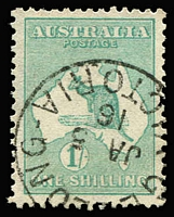 Lot 550 [1 of 2]:2d to 1/- Selection comprising 2d, 2½d x2 (separated pair), 6d x2, 9d x2 & 1/- x3, all with tidy datestamp cancels, Cat $660. (10)