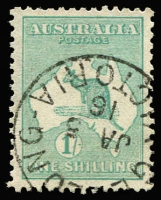 Lot 554 [1 of 2]:2d To 1/- Selection comprising 2d, 2½d x2 (separated pair), 6d x2, 9d x2 & 1/- x3, all with tidy datestamp cancels, Cat $660. (10)