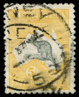 Lot 553 [1 of 2]:2d to 5/- Set, few nibbed perfs, datestamp cancels, Cat $1,200+. (7)