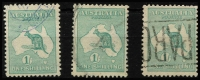 Lot 552 [2 of 3]:Selection with 2d, 2½d x6, 6d x5, 9d x5 & 1/- x4, some condition issues, generally fine with datestamps cancels, Cat $1,300+. (21)