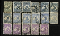 Lot 552 [3 of 3]:Selection with 2d, 2½d x6, 6d x5, 9d x5 & 1/- x4, some condition issues, generally fine with datestamps cancels, Cat $1,300+. (21)