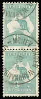 Lot 107 [1 of 5]:Accumulation with 2½d x26 including block of 4 & two pairs, 6d blue x33 including two pairs & two Inverted watermark singles, 9d x26 including block of 4 and a pair and 1/- x34 including strip of 3 and two pairs; good variety of shades and some nice datestamp cancels, condition variable, however many are fine. (119)