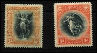 Lot 1392 [3 of 3]:1920-21 Victory ¼d to 3/- set including Wmk Script CA 1d SG #201-12, fine mint, Cat £150. (12)