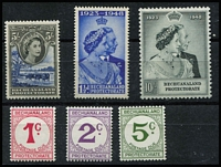 Lot 1221 [2 of 3]:1948-61 Selection comprising 1948 Silver Wedding, 1953-58 QEII ½d to 10/- and 1961 Postage Due sets, SG #136-37, 143-53 & D10-12, fresh MUH, Cat £140+. (17)