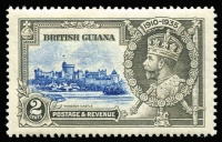Lot 1401:1935 Silver Jubilee 2c ultramarine & grey, variety Dot by flagstaff SG #301h, fine mint, Cat £130.