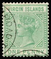 Lot 1410:1879-80 ½d emerald-green SG #24, very fine used, Cat £90.