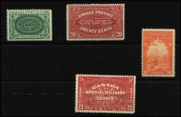 Lot 1413 [2 of 4]:1898-1946 Special Delivery Issues complete between SG #S2-17 including Airs plus officials SG #OS20-21, 1898 10c straight-edge at base, a few stamps MLH, most are fresh MUH, Cat £370+. (17)