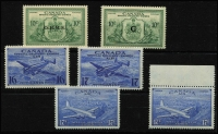 Lot 1413 [3 of 4]:1898-1946 Special Delivery Issues complete between SG #S2-17 including Airs plus officials SG #OS20-21, 1898 10c straight-edge at base, a few stamps MLH, most are fresh MUH, Cat £370+. (17)