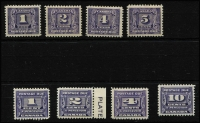 Lot 1174 [2 of 3]:1930-65 comprising 1930-32 set SG #D9-D13 mint, 1933-34 &1935-65 sets SG #D14-D24 fresh MUH. Cat £179. (16)