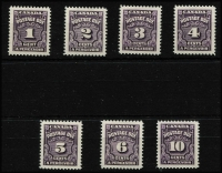 Lot 1174 [3 of 3]:1930-65 comprising 1930-32 set SG #D9-D13 mint, 1933-34 &1935-65 sets SG #D14-D24 fresh MUH. Cat £179. (16)