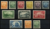 Lot 1504 [2 of 2]:1928-29 KGV Perf 12 1c to $1 set SG #275-85, MLH/MVLH, a few values including 10c & 20c are MUH, also 1c & 2c Coils #286-87 fine mint, Cat £410. (13)