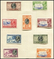 Lot 10 [3 of 5]:British Commonwealth collection in 1930s 'Empire' album with wide range of British Colonies mostly used but with plenty of MLH issues also sighted, predominantly lower denomination KGV or earlier issues, with selections from Ceylon, India including KGVI 2a & ½a with very fine strikes of undated 'RAF BASE PO/CEYLON' cancel in violet, Indian States, Morocco Agencies, New Brunswick, Newfoundland, St Helena, South Africa etc; also noted Falkland Island Deps KGVI 'Thick' Map set MUH in cello. (800+)