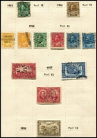 Lot 10 [5 of 5]:British Commonwealth collection in 1930s 'Empire' album with wide range of British Colonies mostly used but with plenty of MLH issues also sighted, predominantly lower denomination KGV or earlier issues, with selections from Ceylon, India including KGVI 2a & ½a with very fine strikes of undated 'RAF BASE PO/CEYLON' cancel in violet, Indian States, Morocco Agencies, New Brunswick, Newfoundland, St Helena, South Africa etc; also noted Falkland Island Deps KGVI 'Thick' Map set MUH in cello. (800+)