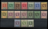 Lot 14 [2 of 4]:British Commonwealth Selection mostly mint with Fiji 1871 'CR' 3d, 1876-77 Wove Paper 6d & Laid Paper 1d, Gibraltar 1938-51 KGVI ½d to £1 set, Seychelles 1917-22 Wmk MCA 2c to 5r set; Tristan da Cunha 1952 ½d to 10/- set, also Kedah 1950-55 $5 used; a few blemishes/tones, mostly fine. (47)