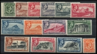 Lot 14 [3 of 4]:British Commonwealth Selection mostly mint with Fiji 1871 'CR' 3d, 1876-77 Wove Paper 6d & Laid Paper 1d, Gibraltar 1938-51 KGVI ½d to £1 set, Seychelles 1917-22 Wmk MCA 2c to 5r set; Tristan da Cunha 1952 ½d to 10/- set, also Kedah 1950-55 $5 used; a few blemishes/tones, mostly fine. (47)