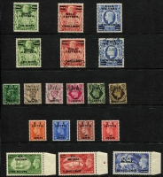 Lot 13 [2 of 5]:British Occupation Of Italian Colonies with Middle East Forces 1942 2d orange with Type M2a (round stops ovpt) mint, 1943-47 KGVI set mint, plus used set (ex 5/-), 1942 postage dues set mint plus ½d, 1d & 3d used; Eritrea 1948-49 optd 'B.M.A./ERITREA' 2/6d to 10/- mint & used, 1951 'B.A./ERITREA' set mint; Somalia 1943-46 'E.A.F' set mint & used (ex 2d & 1/-), also BPA in Eastern Arabia to 5/- x2 mint & used, with duplicated lower values; condition variable, mostly fine. (170)