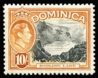 Lot 34 [1 of 3]:Dominica 1938-1954 Sets with KGVI 1938-47 & 1951 sets plus QEII 1954-62 set (mild gum tone), the latter two sets MUH, Cat £109. (52)