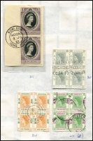 Lot 46 [3 of 4]:Hong Kong KEVII to QEII Array haphazardly presented many used with KEVII to 50c; also KGV 'CHINA' overprints to 50c x3 & $1, KGVI to $5 & $10 x2, QEII 1954 to $10 incl blocks of 4 of 65c (Cat £76+) and $5, later high value definitives to $20. (Few 100s)