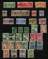 Lot 55 [3 of 3]:Nigeria 1914-51 Accumulation with KGV 1914-29 MCA mint to 2/6d x3, 5/- x2 & 10/- x2 including 3d, 4d & 1/- shades, 1936 Pictorials used to 1/-, KGVI 1938-51 mint to 2/6d x2 & 5/- including 4d orange, used to 2/6d x6 & 5/- x7 including P13x11½ for each value, 1948 Silver Wedding mint, condition a bit variable, mostly fine. (180+)
