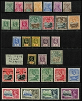 Lot 44:St Helena 1890-1935 Selection mostly mint including 1890-97 QV ½d to 10d set, KEVII 1903 8d & 1/-, 1908-11 2½d to 6d with both paper types of 4d & 6d, KGV 1912 4d & 6d, 1935 Jubilee set, etc, mostly fine, Cat £250+.