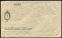 Lot 34 [3 of 5]:Australia & United Kingdom WWI/WWII mostly unused group including National Savings envelopes, OHMS envelopes, Active Service envelope, Commonwealth of Australia War Pension receipt, etc, condition variable. (12 items)