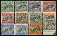 Lot 1440 [3 of 3]:1923-33 KGV Badge ½d to £1 set SG #71-91 including ½d shade, fine mint, Cat £375. (22)