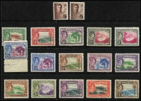 Lot 1441 [2 of 3]:1938-1954 Sets comprising KGVI 1938-47 & 1951 sets plus QEII 1954-62 set (mild gum tone), the latter two sets MUH, Cat £210. (52)