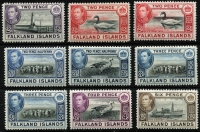 Lot 1449 [3 of 4]:1938-50 KGVI Pictorials ½d to £1 set SG #146-63 including several lower denomination shades, fine mint with most stamps MLH/MVLH, Cat £500+. (23)