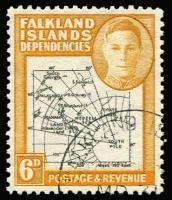Lot 1456 [1 of 2]:1946-49 Thick Map ½d to 1/- set including scarce 6d black & ochre shade and the Murray Payne listed 4d deep lake shade, very fine used, Cat £130+. (10)