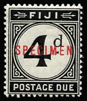Lot 1308 [1 of 2]:1918 Postage Dues optd 'SPECIMEN' in red SG #D6-D10, fine mint, Cat £160. (5)