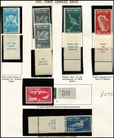 Lot 477 [1 of 5]:1949-62 Tabbed Issues mostly mint including 1949 250pr Inuagration, 1949 Petah Tiqwa used, 1950 UPU MUH, 1950 Air (100pr without tab) MUH, 1950 University MUH & used, 1951 Memorial Tablet, 1951 Third Anniv MLH, 1952 Stamp Exhibition Air MUH, 1952 Independence MUH, 1952 Zoa & Bilu MUH, 1952 New Year MUH, 1952 President MUH & mint, 1953-56 Air MUH (3000pr MLH), apparently complete MUH (odd set MLH) thereafter to 1962 Red Sea Fish, generally fine/very fine, Cat £1,500+. (100s)