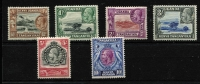 Lot 1569 [2 of 3]:1935-37 KGV Pictorials 1c to £1 set SG #110-23, including 5c Rope joined to sail SG #111a, very fine MLH/MVLH with most lower values MUH, Cat £515. (15)
