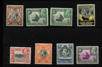 Lot 1569 [3 of 3]:1935-37 KGV Pictorials 1c to £1 set SG #110-23, including 5c Rope joined to sail SG #111a, very fine MLH/MVLH with most lower values MUH, Cat £515. (15)