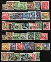 Lot 1443 [2 of 2]:14801938-53 KGVI Pictorial long sets SG #217-31 & 234-48, a few hinge remainders, generally fine mint, Cat £165. (41)