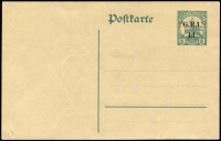 Lot 1396:1915 '1d.' on 5pf Watermarked #PS2 [Stg A] (Borek Type 13) unused, fine condition, rated Very Scarce by Gibbs.
