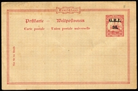 Lot 1397:1915 '2d.' on 10pf No Wmk #PS3 [Stg B] (Borek Type 9), lightly toned, single pinhole, unused, rated Very Scarce by Gibbs.
