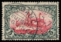 Lot 1379 [1 of 2]:1900 Kaiser's Yacht 3pf to 5m set Mi #7-19, corner perf blemish 50pf, fine/very fine used overall. Cat €1,000. (13)