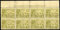 Lot 1336 [1 of 4]:1925-27 Huts ½d to 9d in imprint or part-imprint blocks comprising ½d, 2d, 4d & 6d blocks of 8, 1d block of 10, 1½d blocks of 10 & 6, 3d blocks of 10 & 9 (crease) & 9d block of 4, matt or shiny gum, MUH, Cat £440++. (10 blocks)