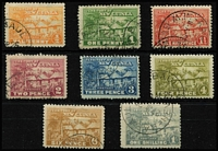 Lot 257 [2 of 3]:1925-27 Huts ½d to £1 set SG #125-36, variable centring, fine/very fine used, Cat £650. (13)